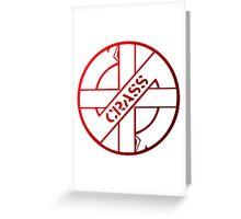 Retro Punk Restyling  Crass Greeting Card