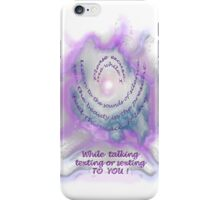 Reminders on your case while you text and sext! iPhone Case/Skin