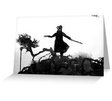 figure on gnarly hill Greeting Card