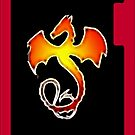 Flame dragon iPhone by Jayson Gaskell