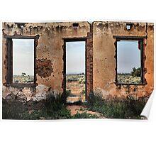 Desert Frame - Silverton NSW Australia Poster