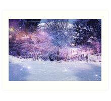 Magical Snow Scene  Art Print