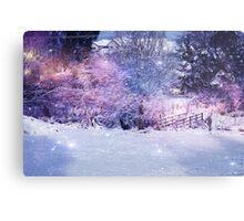 Magical Snow Scene  Metal Print
