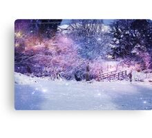 Magical Snow Scene  Canvas Print