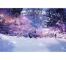 Magical Snow Scene  Photographic Print
