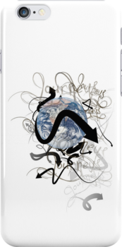 Earth Journeys iPhone Case by Carrie Jackson