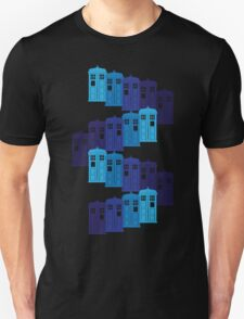 Shades of the Blue Box Tardis T-Shirt