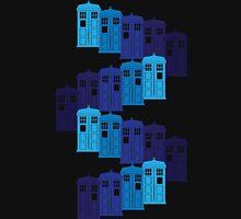 Shades of the Blue Box Tardis Unisex T-Shirt