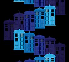 Shades of the Blue Box Tardis by Glo-go