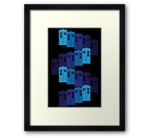 Shades of the Blue Box Tardis Framed Print