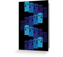 Shades of the Blue Box Tardis Greeting Card