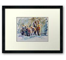 Ice Bears Framed Print
