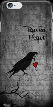 Raven Heart - IPhone Case by Rookwood Studio ©