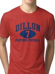 Dillon Panthers Football #7 Tri-blend T-Shirt