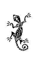 Lizard Henna Iphone Case by Kayleigh Walmsley