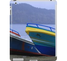 Colorful Fishing Boats on the Beach iPad Case/Skin