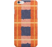 Orange and Blue Check (Case) iPhone Case/Skin