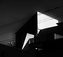 light, angles, bicycle. by geof