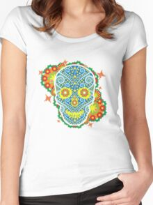 skeleton flowers peace  Women's Fitted Scoop T-Shirt