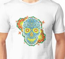 skeleton flowers peace  Unisex T-Shirt