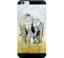 Calf elephants iphone iPhone Case/Skin