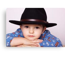 Wee Man, Big Hat Canvas Print
