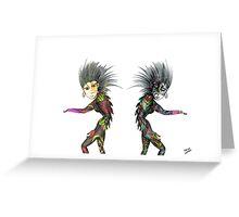 Pencil Drawing Troll figures Greeting Card