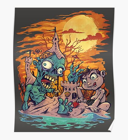 Zombie At The Beach  Poster