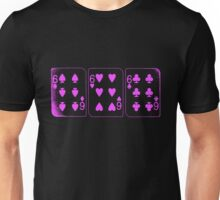 666 Cards - Pink Unisex T-Shirt