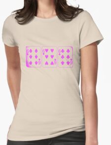 666 Cards - Pink Womens Fitted T-Shirt