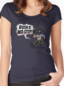 Rush B! No Stop! Women's Fitted Scoop T-Shirt