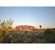 Uluru (Ayers Rock) Central Australia 6:15pm Photographic Print