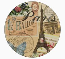 French Paris Vintage Collage France Europe Travel One Piece - Long Sleeve