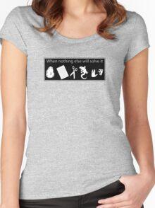 Rock. Paper. Scissors. Lizard. Spock! Women's Fitted Scoop T-Shirt