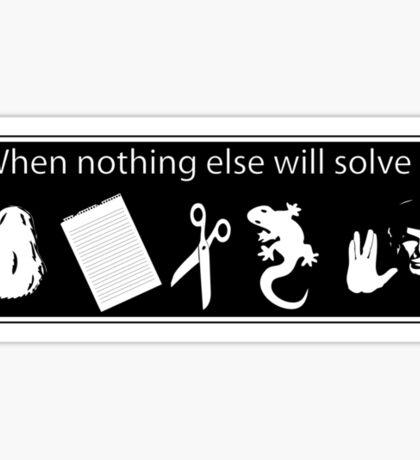Rock. Paper. Scissors. Lizard. Spock! Sticker