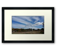 Clouds over the barn  Framed Print