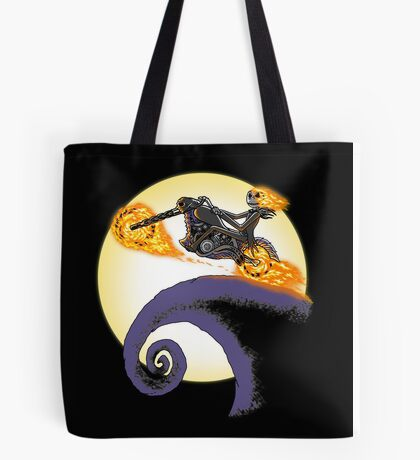 A Ride Before Christmas. Tote Bag
