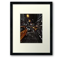 New York Cabs Framed Print