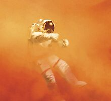 Astronaut in a Dust Storm by Ataliena