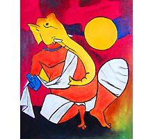 Ganesha..! Inspiration from Hussain's work 01 Photographic Print