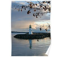 Sunset Lighthouse in the Fall on Lake Ontario Poster