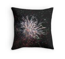 White Star Fireworks Throw Pillow