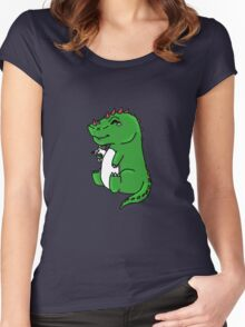 BFF Dino And Bunny Women's Fitted Scoop T-Shirt