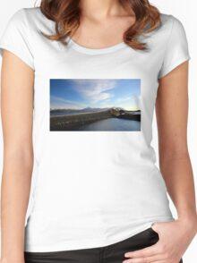 Storseisundet Bridge - Atlantic Road - Norway Women's Fitted Scoop T-Shirt