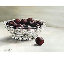 Bowl Full of Cherries Photographic Print