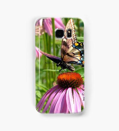 papillon sur la fleur Samsung Galaxy Case/Skin