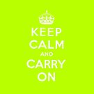 Keep Calm - Lime by UrbanDog