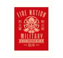 Avatar Fire Nation Art Print
