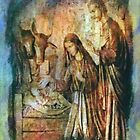 The Birth of Jesus The Prince of Peace Christmas Card by Marie Sharp