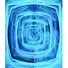 Blue Maze Fractal (iPhone Case) by judygal